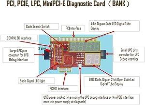 2016 KQCPET6-H 2 in 1 Laptop and Desktop PC Universal Diagnostic Test Debug King Post Card Support for PCI PCI-E miniPCI-E LPC 2.0PCI, PCIE, LPC, MiniPCI-EDiagnostic Card KQCPET6 V4