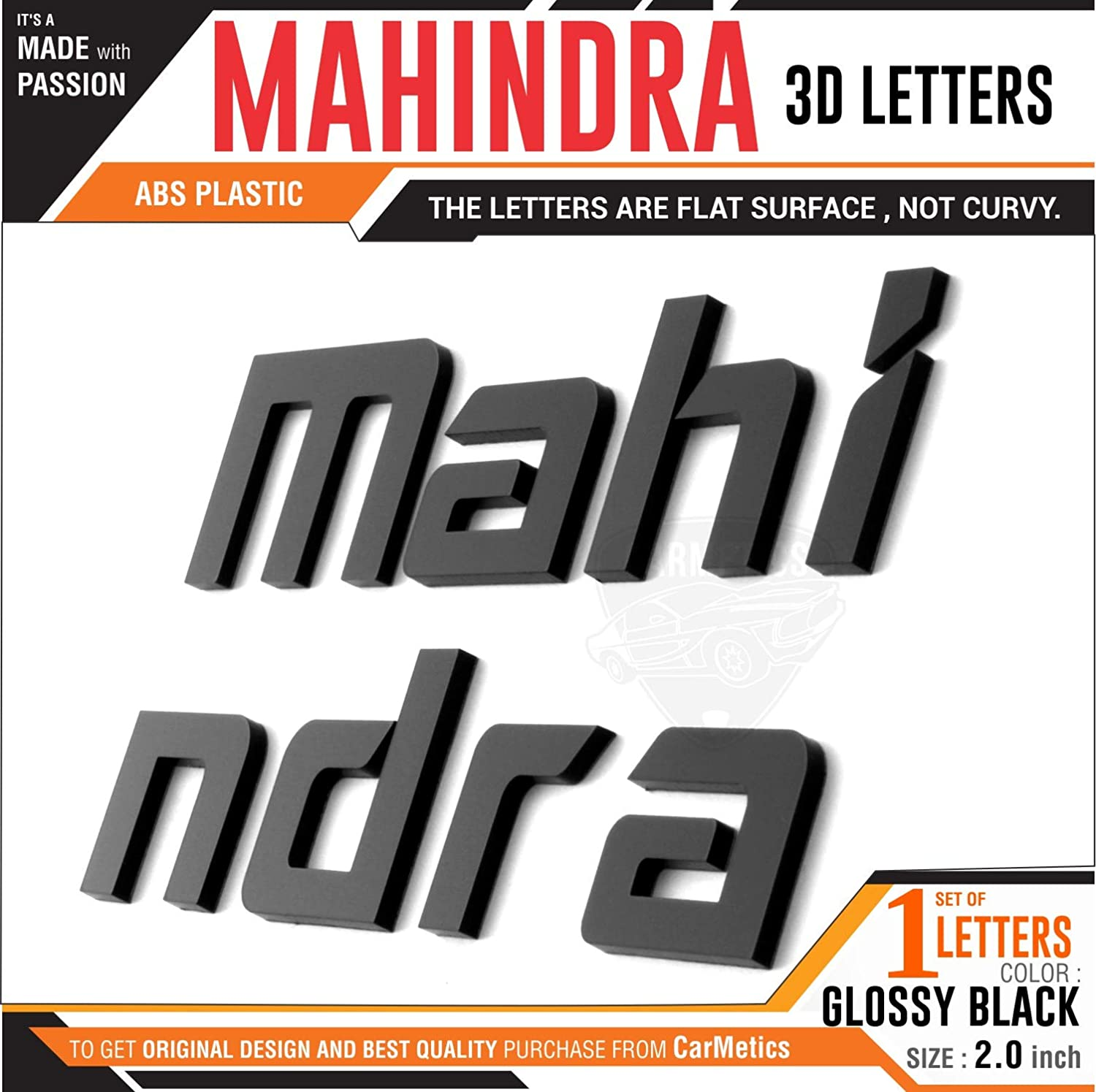 Carmetics mahindra 3d letters 3d stickers for mahindra verito emblem logo badge sticker decal car accessories glossy black amazon in car motorbike