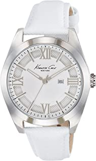 Kenneth Cole New York Womens 10021282 Dress Sport Analog Display Japanese Quartz White Watch