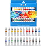24 Colors Oil acrylic Paints Set Water Color for Hand Painted Wall Painting Textile Paint Nail Glass art Painting Paint…