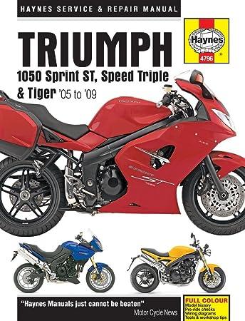 haynes manual triumph 1050 sprint st speed triple tiger 05 13 rh amazon co uk Triple-Speed 2007 Triumph 2010 Triumph Speed Triple