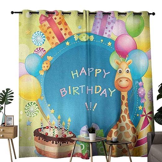 duommhome - Cortina de cumpleaños para niños, diseño de ...