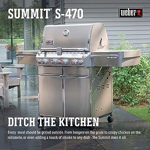 Amazon.com: Weber Summit 7170001 S-470 - Parrilla de gas ...