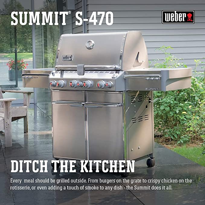 Amazon.com: Weber Summit 7170001 S-470 - Parrilla de gas ...
