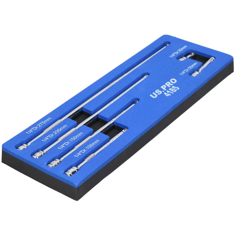 "Extra Long 1//4/"" Dr Flexible Flexi Socket Hex Bit Holder Extension 450mm Bergen"