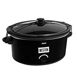 Weston 03-2200-W 8 qt Portable Slow Cooker with Latch Strap