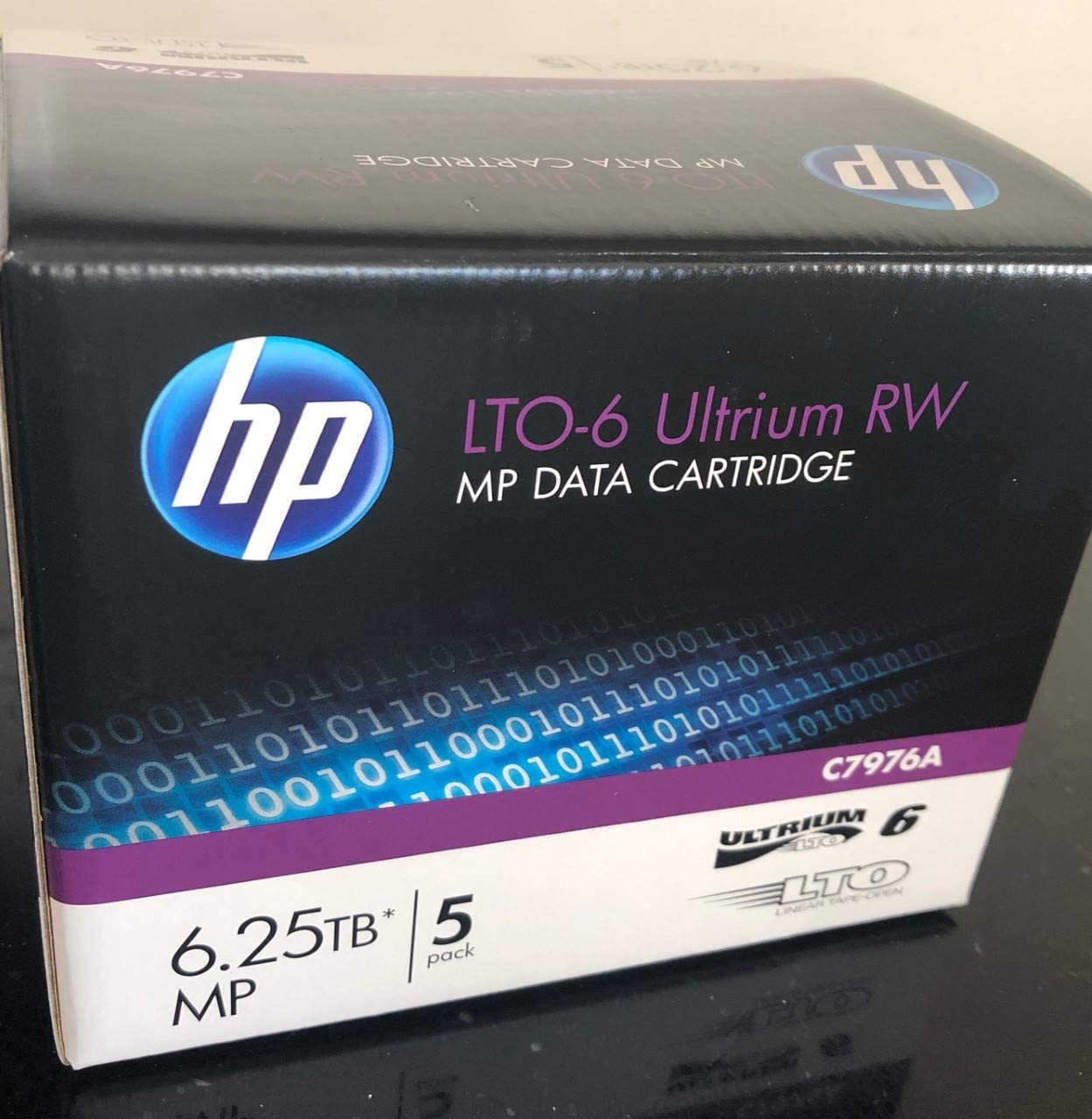 5 Pack HP C7976A LTO6 Data Tape 6.25TB (New)