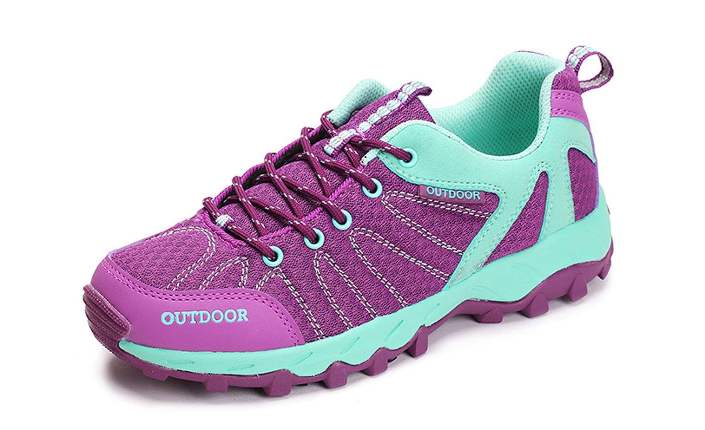 TZTONE Unisex Breathable Quick-Dry Hiking Shoes Mountaineering Shoes for Men Women HS6110136 B075GKMGHH 7.5 B(M) US Women = 5.5 D(M) US Men|Purple