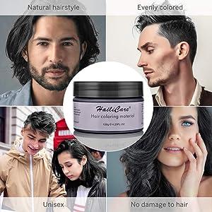 HailiCare Hair Wax 4.23 oz, Professional Hair Pomades, Natural Matte Hairstyle Max for Men Women (Black) (Color: Black)