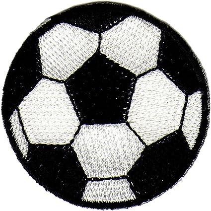 Balón de fútbol blanco y negro parche plancha de: Amazon.es: Coche ...
