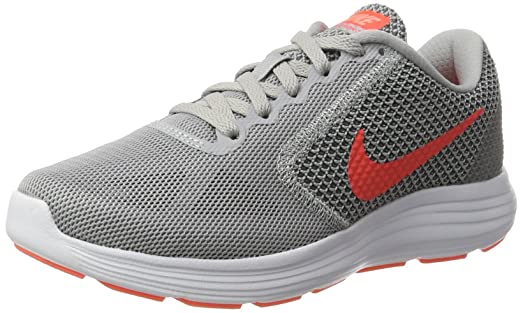 Revolution 3, Zapatillas de Trail Running para Mujer, Gris (Wolf Grey/Hyper Orange-Cool Grey), 37.5 EU Nike