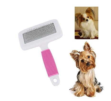 itplus mascota Slicker cepillo para perro Gatos Grooming largo corto pelo peine herramientas