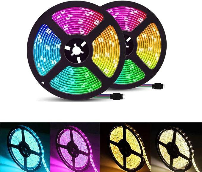 XUENUO 10m 300 LED Tira Led, Tira Led 10m Impermeable, Cutable Flexible Transformación Multicolor Epoxy A Prueba De Agua: Amazon.es: Hogar