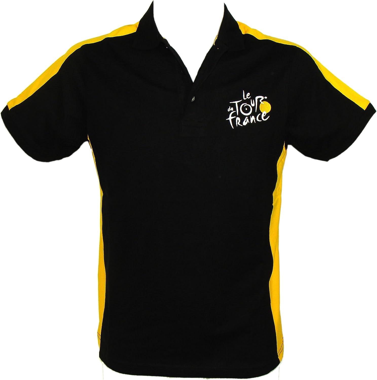 Black Tour de France Sports Polo Official Apparel