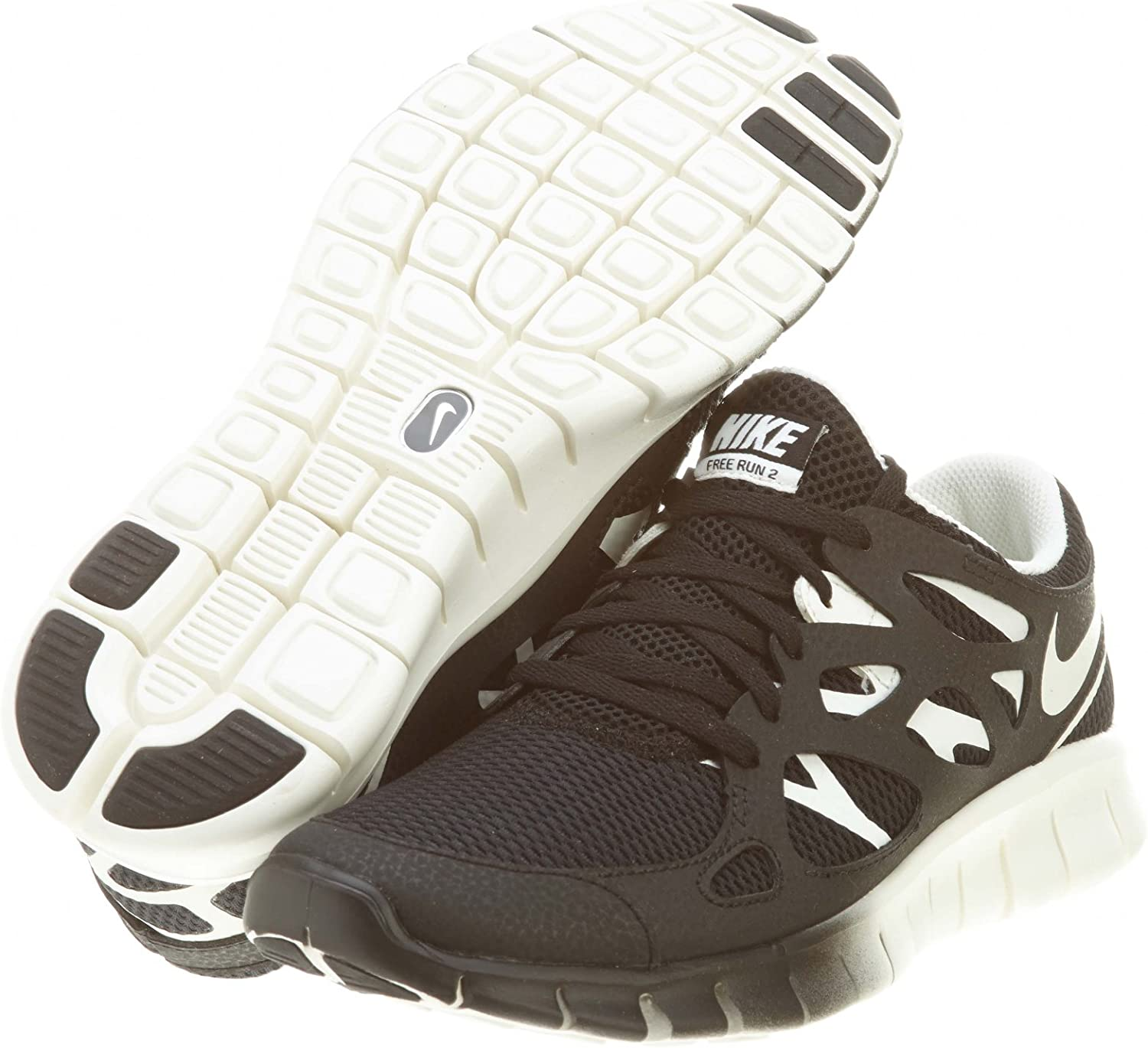 Nike Free Run + 2 Black 536746 004, Hombre Mujer, Nike Running Schuhe, Black-Sail, 37,5: Amazon.es: Deportes y aire libre