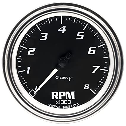 8 Tachometer Chrome With Black Dial