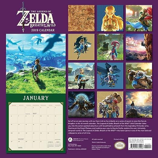 Breadth of the Wild 2019 Wall Calendar Legend of Zelda