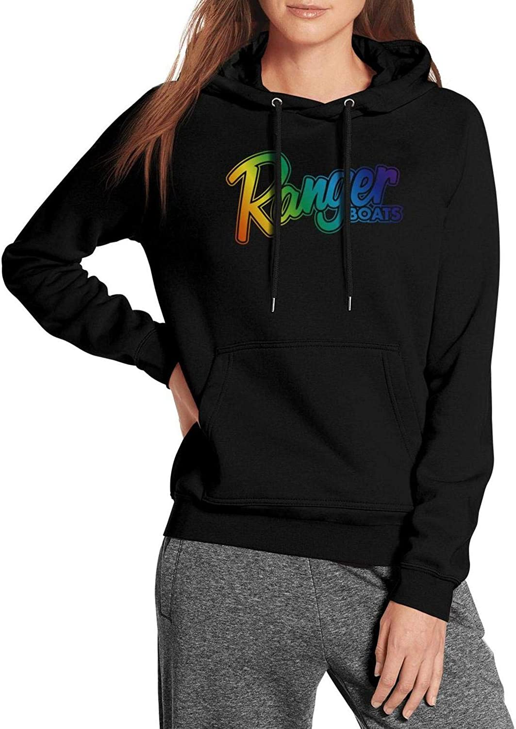 Womens Best Hoodies Ranger-Boats-American-Flag-Distressed-Boats with Pocket Fit Sweatshirt Funny Loose Trendy Sweaters