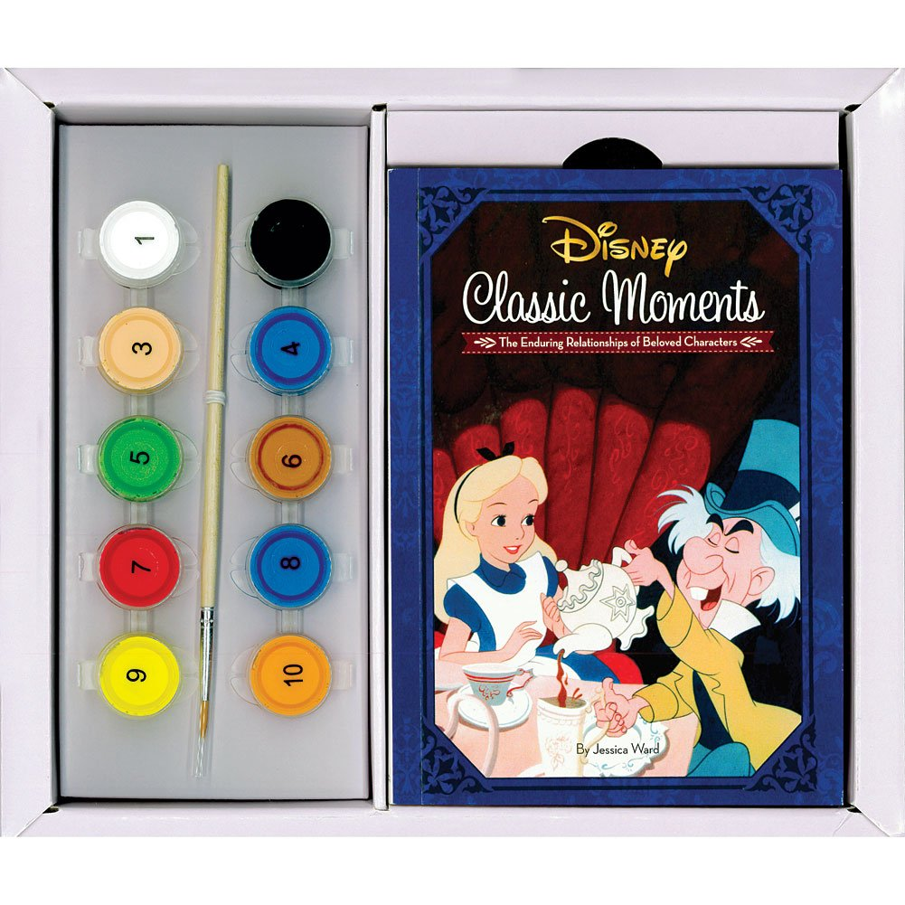 INGRAM PUBLISHING Disney Classic Arylic Paint by Number Set w/ Canvases Display Stands & Brush by INGRAM PUBLISHING (Image #2)