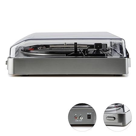 auna TT-10 BT Tocadiscos Bluetooth (Emisor señal inalámbrica ...
