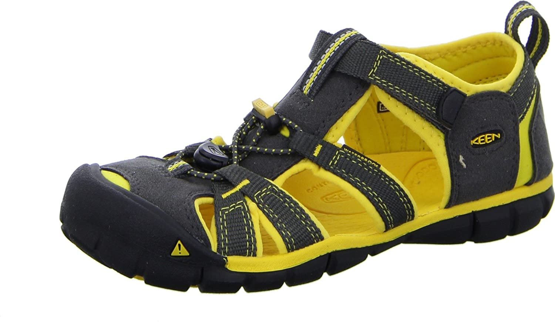 KEEN Boys  Kindersandale Seacamp Ii CNX Sandals Black Raven Yellow   Amazon.co.uk  Shoes   Bags 3e7ab95db6