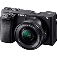 Sony Alpha A6400 Mirrorless Camera: Compact APS-C Interchangeable Lens Digital Camera with Real-Time Eye Auto Focus, 4K Video, Flip Screen & 16-50mm Lens - E Mount Compatible Cameras - Ilce-6400L/B