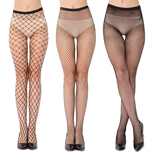 9c24127982312 JB-Beny FS14 Fishnet Stockings Pantyhoses Black Seamless Mesh Tights for  Womens 3 styles Halloween