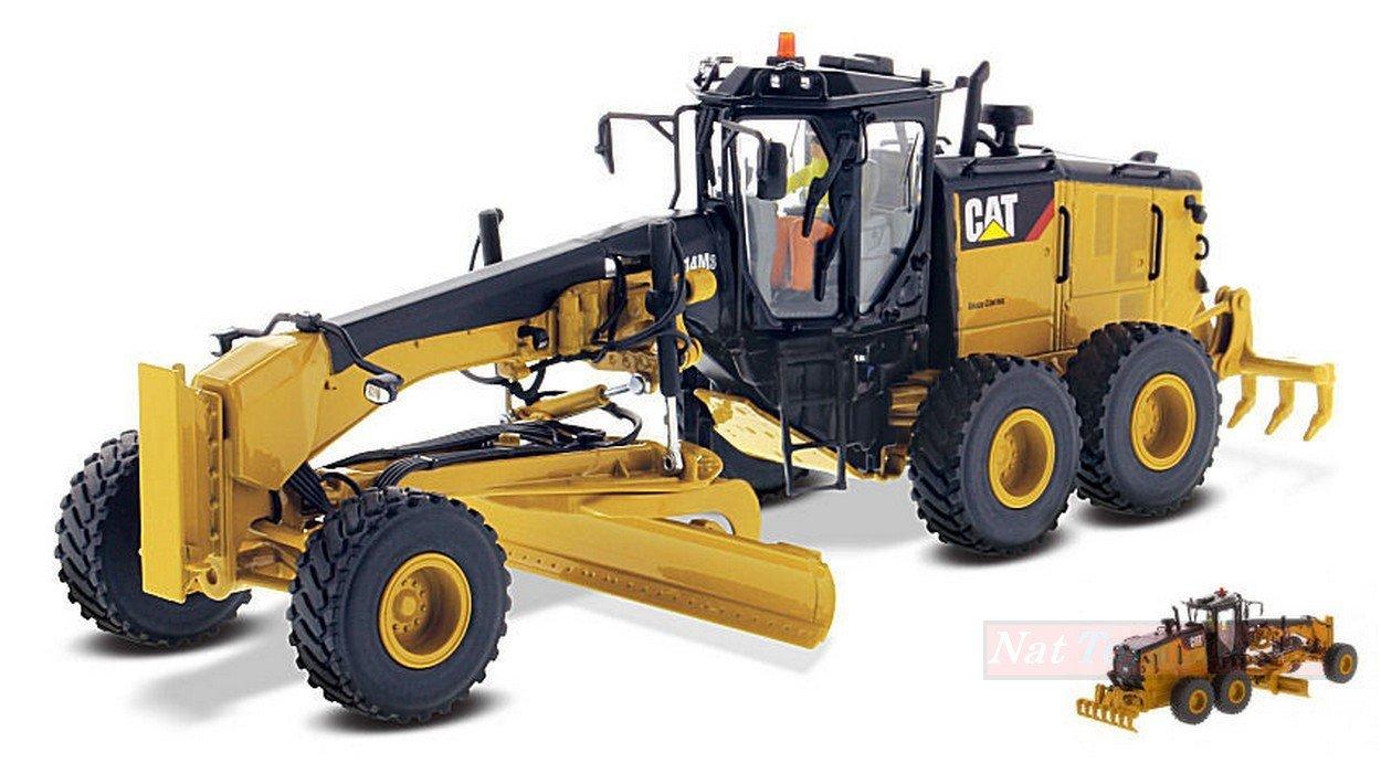 DIECAST MASTER DM85545 MOTOR GRADER CAT 14M3 1:50 MODELLINO DIE CAST MODEL