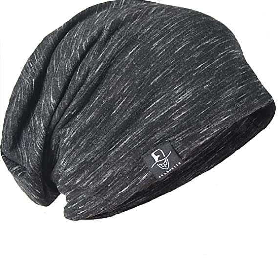 0c7ab52f8cade FORBUSITE Striped Thin Beanies for Men (Black with Grey): Amazon.ca ...