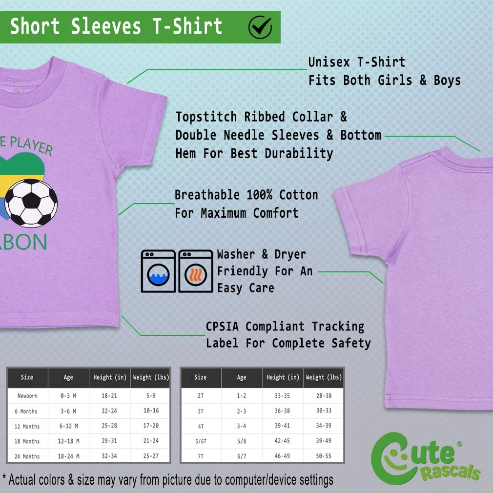 Custom Baby /& Toddler T-Shirt Future Soccer Player Gabon Cotton Boy Girl Clothes