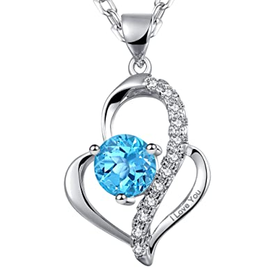 Dawanza christmas gift heart pendant necklace for women engraved dawanza christmas gift heart pendant necklace for women engraved quoti love youquot aloadofball Choice Image
