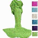 Amazon Price History for:DDMY Mermaid Tail Blanket for Kids Teens Adult, Handmade Wave Mermaid, Crochet Knitting Blanket, Seasons Warm Soft Living Room Sleeping Bag, Best Birthday Christmas Gift, Green