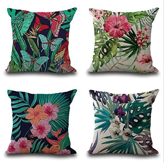 OFVV Funda De Cojín Decorativa De Lino Throw Pillow Case ...