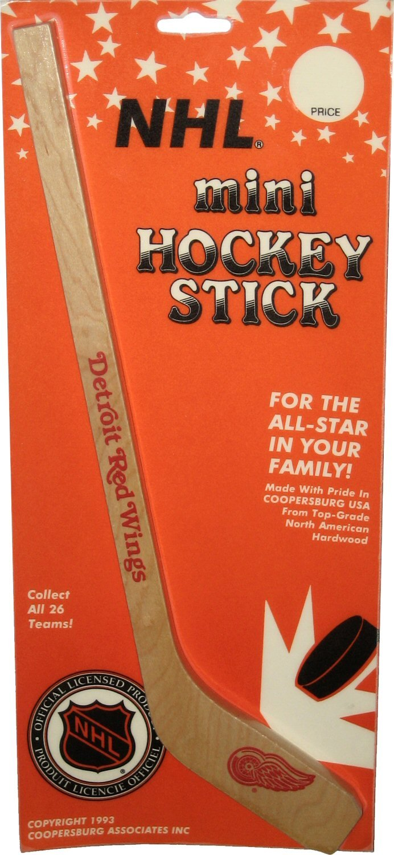 Vintage 1993 Detoit Red Wings 14-inch Mini Wooden Hockey Stick Coopersburg Associates Inc.