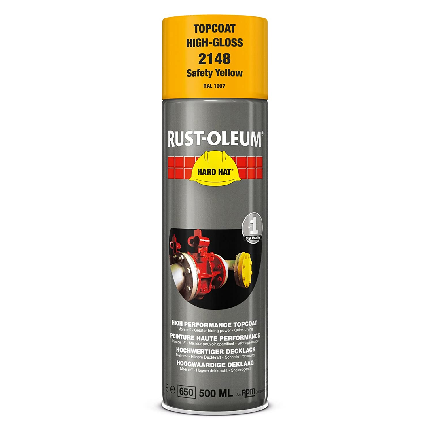Rustoleum 2148 Safety Yellow Hard Hat Aerosol 500ml [Misc.]