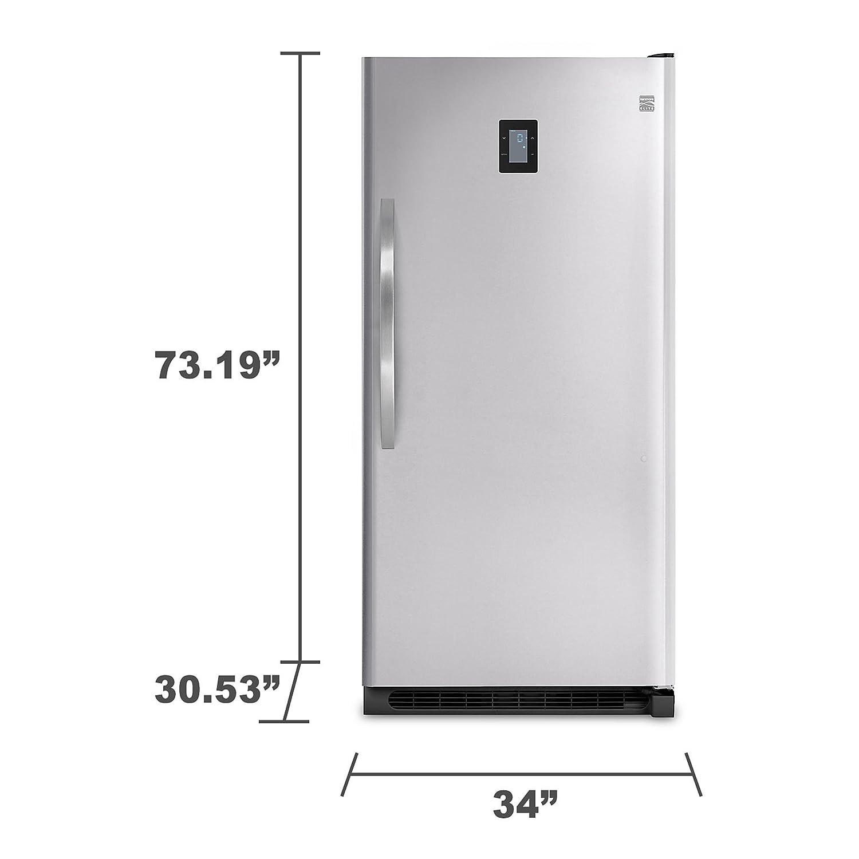 Midea stainless steel compact single reversible door upright freezers - Kenmore Elite 27003 20 5 Cu Ft Upright Freezer Stainless Steel