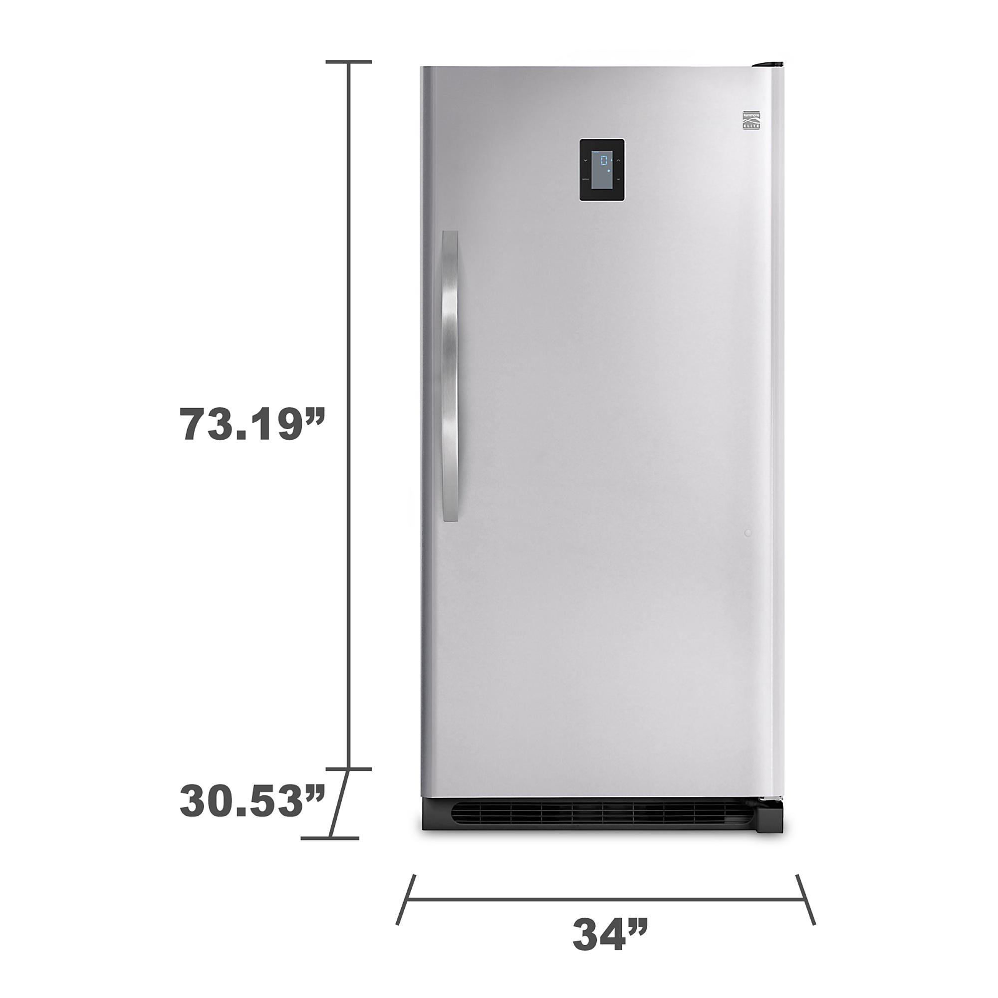 Kenmore Elite 27003 20.5 cu. ft. Upright Freezer - Stainless Steel