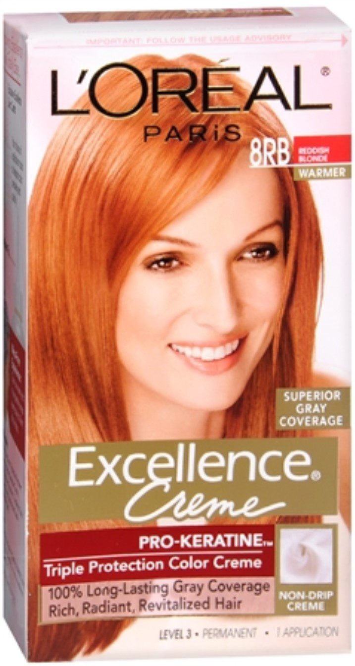 L'Oreal Excellence Creme - 8RB Medium Reddish Blonde (Warmer) 1 Each (Pack of 5) by L'Oreal Paris