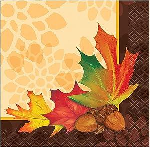 Fall Leaves Beverage Napkins, 16ct