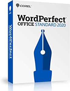 Corel WordPerfect Office 2020 Standard Upgrade | Word Processor, Spreadsheets, Presentations | Newsletters, Labels, Envelopes, Reports, Fillable PDF Forms, eBooks [PC Disc]