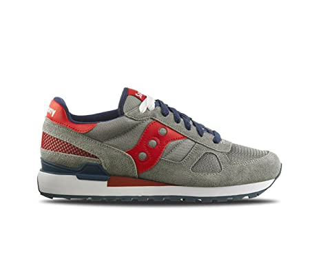 Saucony Sneakers Shadow Original Grey - Red - Blue Herren.