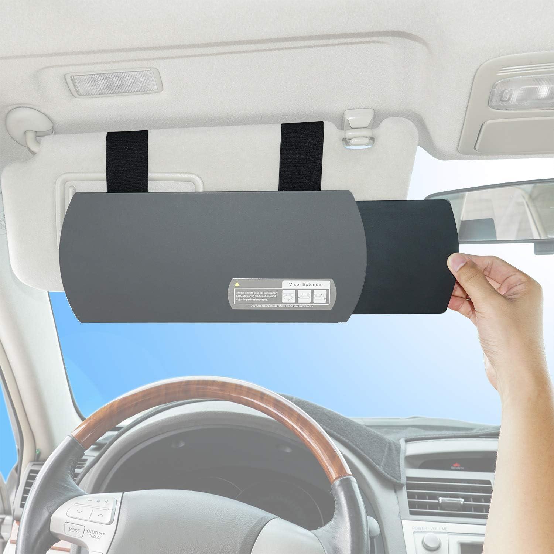 Wanpool Auto Visier Sonnenschutz Auto Visier Blendschutz Sonnenschutz Extender Für Vordersitz Fahrer Oder Beifahrer Grau Auto
