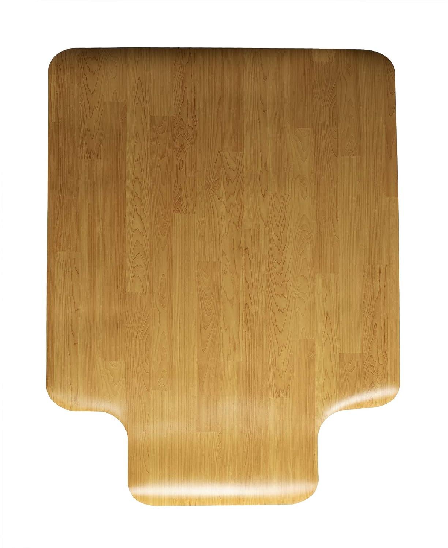 "Mind Reader WDOFFCMAT-BRN Office Hardwood, 36"" x 48"" Inches, Easy Glide Computer Desk Chair, Anti-Skid, Stays in Place, Wood Design, Brown Floor Mat"