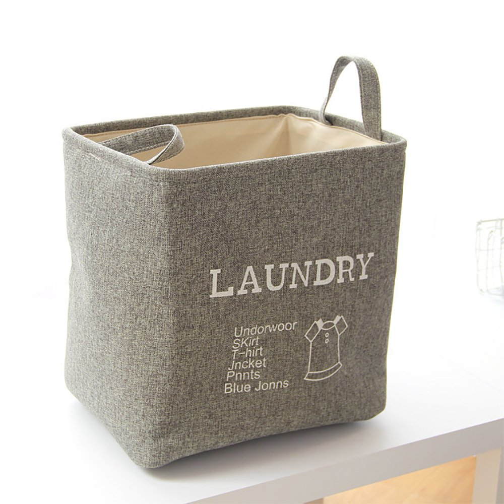 EILEMO Laundry Hamper - Portable, Durable Handles, Collapsible for Storage and Easy to Open. Folding Clothes Hampers Are Great for the Kids Room, College Dorm