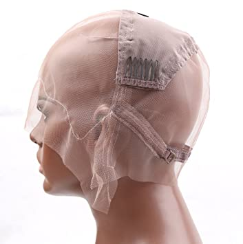 49be3e0fada Bella Hair Glueless Full Lace Wig Cap for Making Wigs with Adjustable  Straps and Combs (Medium Size Cap)
