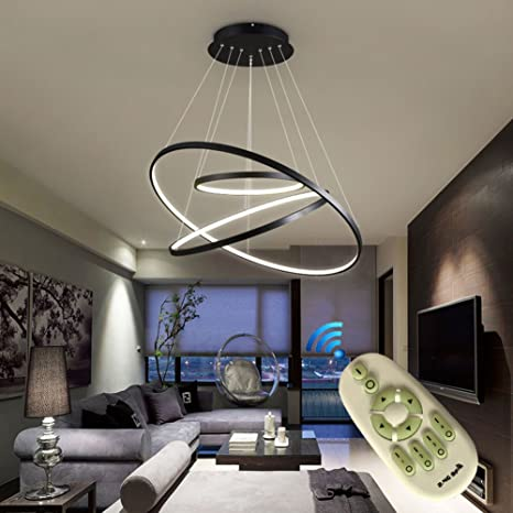 Dimmable chandelier modern lighting acrylic pendant light with 108w dimmable chandelier modern lighting acrylic pendant light with 108w for living room dining room kitchen 3 aloadofball Image collections