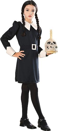 Rubbies, Disfraz de Ruby Addams Family Kids Wednesday, Grande, 8 a 10 Años, Altura 142 - 152 cm: Amazon.es: Juguetes y juegos