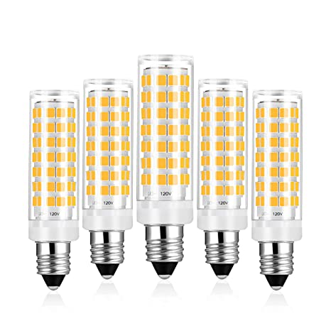 E11 Led Light Bulb Dimmable Warm White 6w Equivalent 40w 50w 60w Halogen Bulbs 3000k 540lm E11 Mini Candelabra Base Light Ac 120v Cri 82 5 Pack