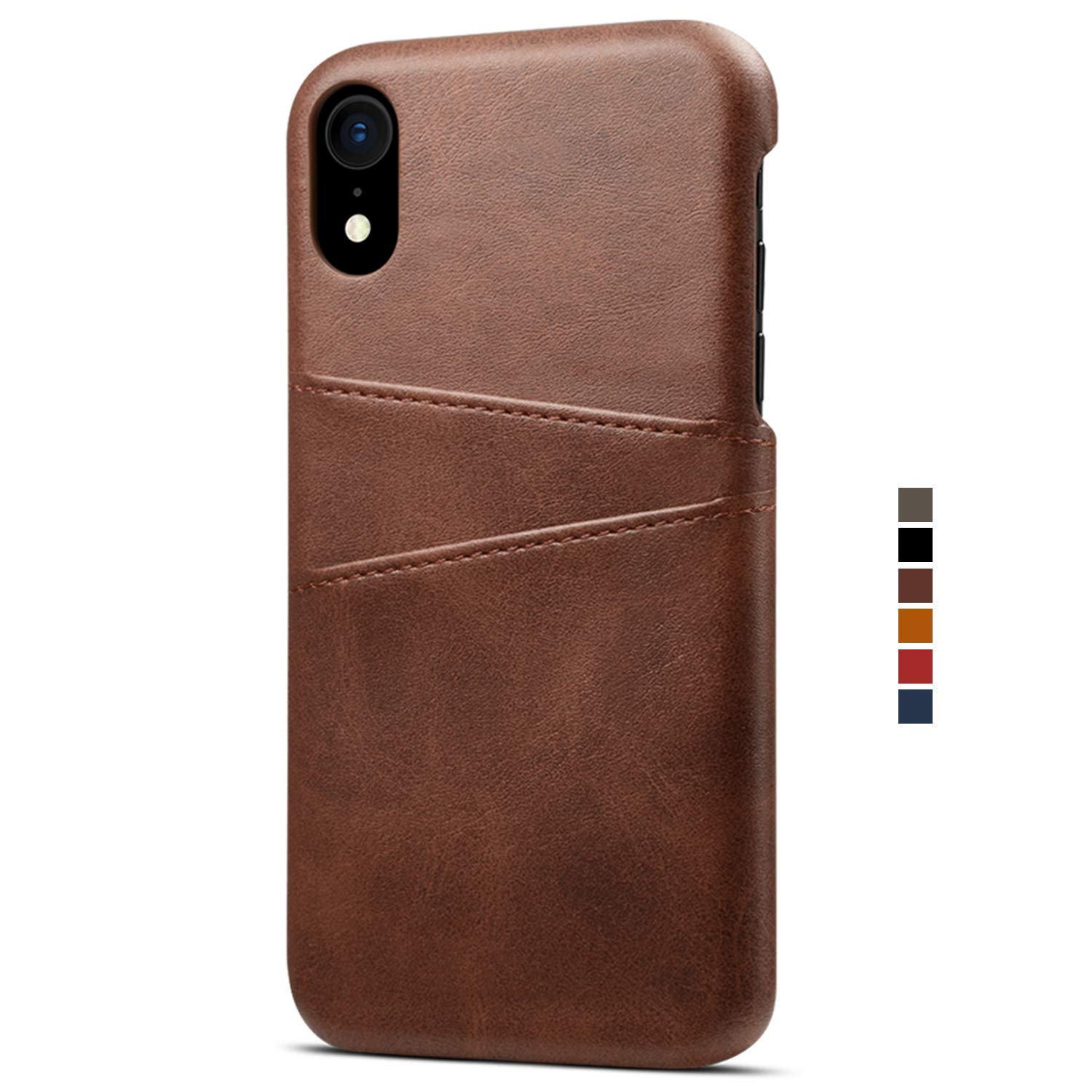 For iphone XS MAX Leather Wallet Phone Case Slim Cover with Card Holder, Red FLY HAWK
