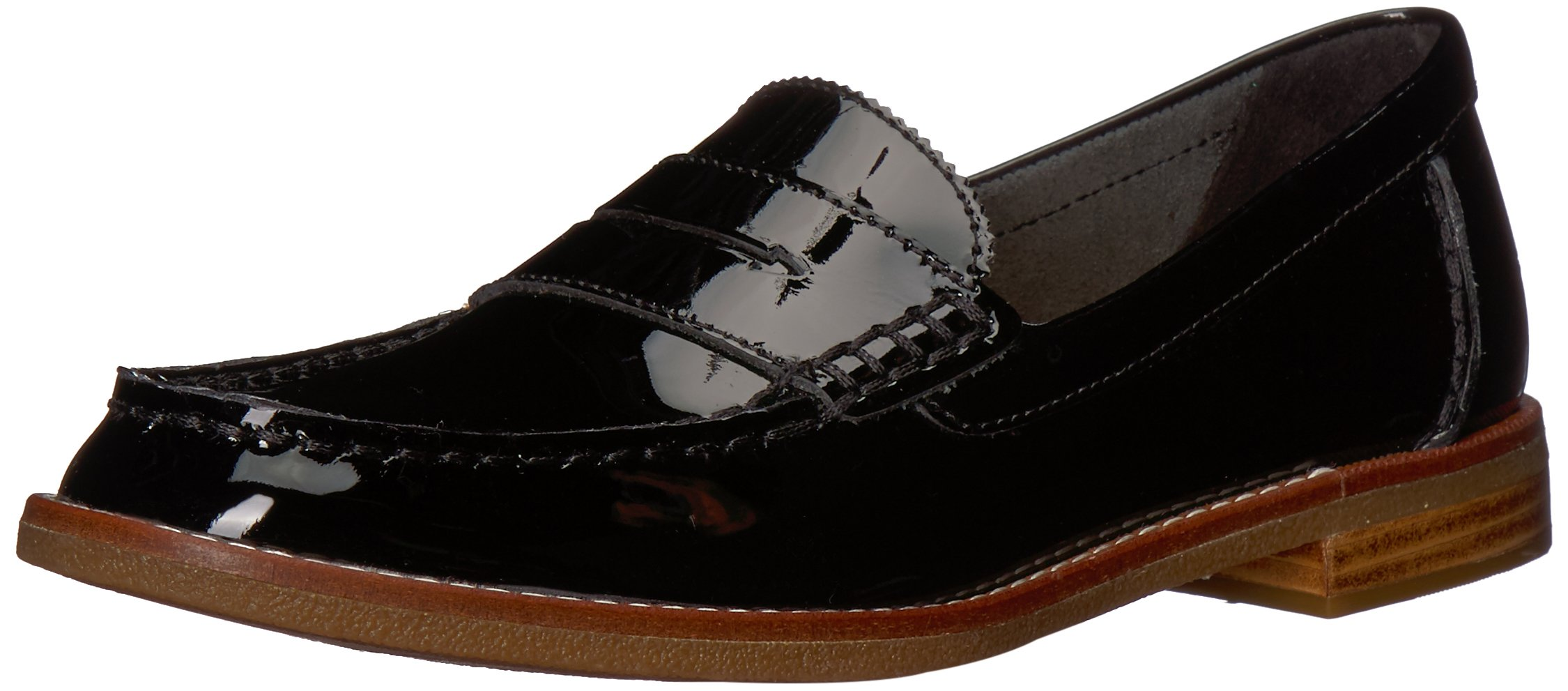 Sperry Top-Sider Women's Seaport Penny Loafer, Black Patent, 8 M US